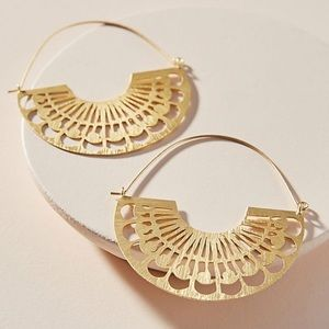 NWT Anthropologie Lucy Hoop earrings